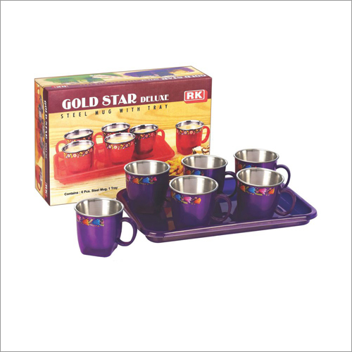 Plastic Tea Coffee Mug Set With Steel Inside