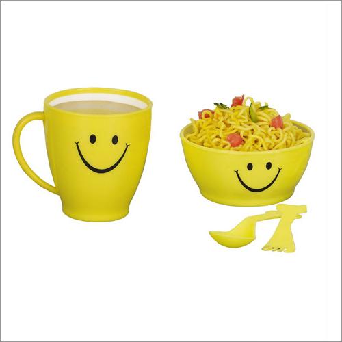 Smile Set A Set Of I Mug, 1Bowl,1Spoon,1Fork