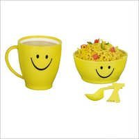 Smile Set A Set Of I Mug, 1Bowl,1Spoon,1Fork