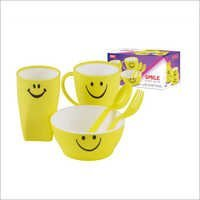 Smile Kids Set Plastic Mug