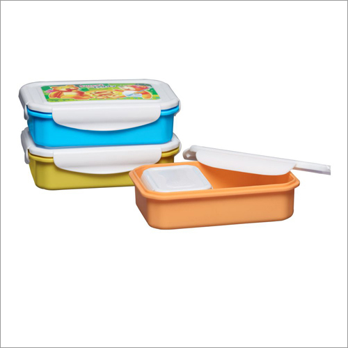 Super Lock and Seal  Plastic Lunch Tiffin Box