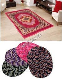 Poly Cotton Carpet :: 4 Door Mats Multicolor