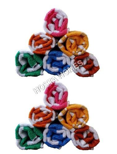 Multicolor Cotton Towels (14 X 21)