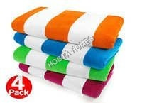 Multicolor Cotton Bath Towels Size (30 X 60)