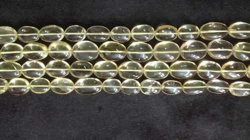 Lemon Topaz Plain Oval Nuggets
