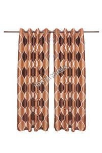 Multicolor Polyester Set Of 2 Curtains