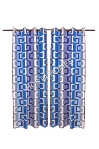 Multicolor Polyester Curtains Set Of 2