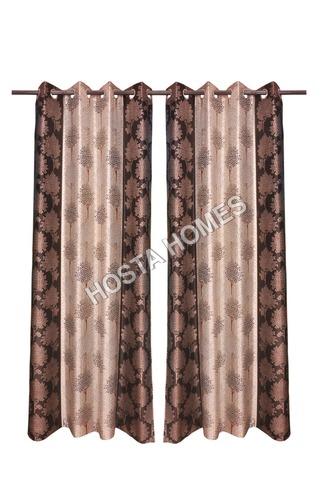 Tree Design Polyester Curtsins Set Of 2
