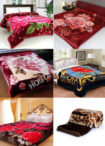 Multicolor Floral Polyester Blankets