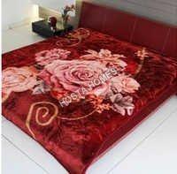 Floral Print Multicolor Mink Blanket
