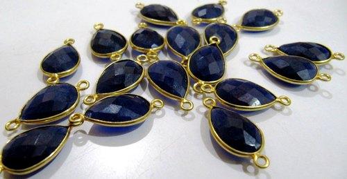 Blue Sapphire Pear Shape Connectors
