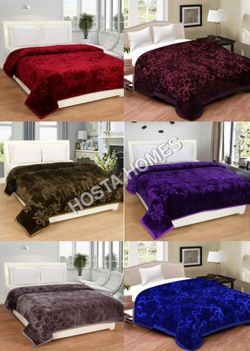 Super Home Combo MultiColor Polyester Plain Blankets