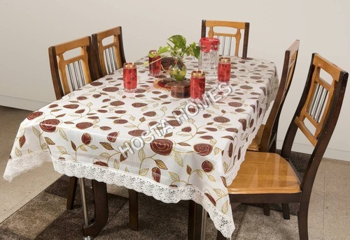 Dining Table Cover Waterproof Floral 6 Seater 90X90 Inches( Exclusive Design)
