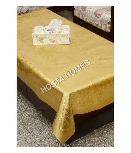 Golden Color  Dining Table Cover Waterproof Floral 6 Seater 60X90 Inches( Exclusive Design)