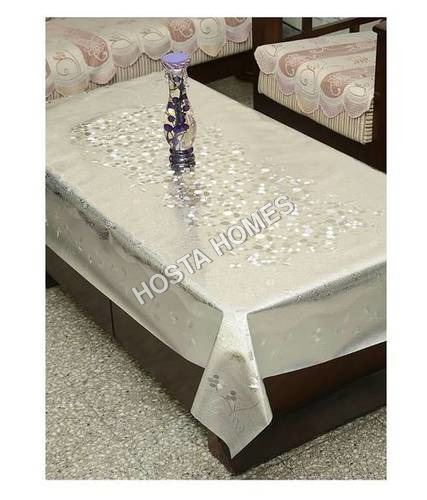 Silver Color Dining Table Cover Waterproof Floral 6 Seater 60X90 Inches( Exclusive Design)