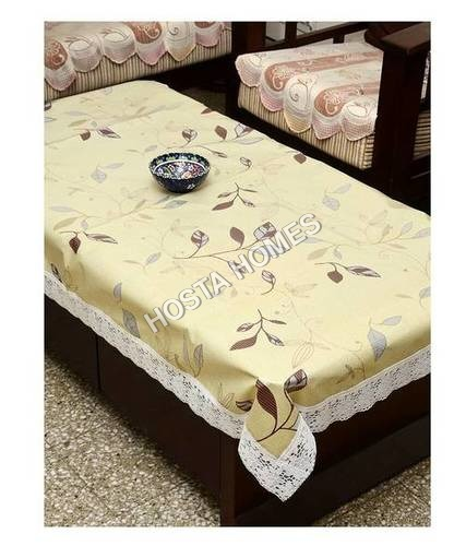 The Trendy Dining Table Cover Clear Self Printed 6 Seater 60x90 inches