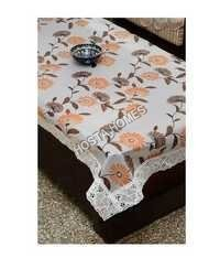 The Trendy Dining Table Cover Clear Self Printed Floral Seater 60x90 inches