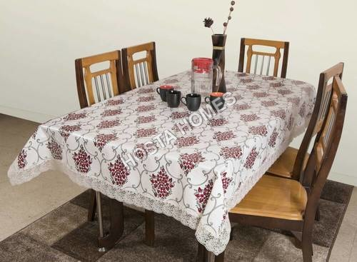 Designer PVC Dining Table Cover 8 Seater 90*90 Inches (Exclusive Design)
