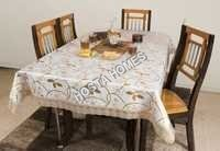 Floral Designer PVC Dining Table Cover 8 Seater 90*90 Inches (Exclusive Design)