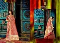 Fully Worked Designer Silk Sarees In India