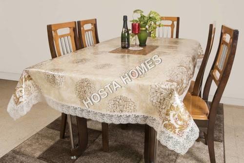 Pvs Floral Table White & Golden Color 90 X 90