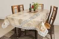 Pvs Floral Table White & Golden Color 90 X 90