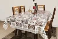 New Design Floral Pvc Dining Table 90 X 90
