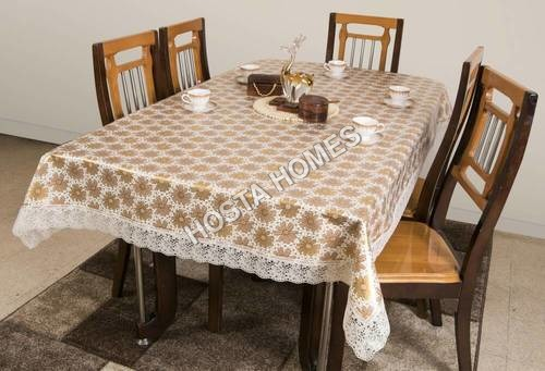PVC Floral Dining Table 8 Seater