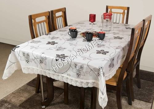White & Black Floral Dining Table