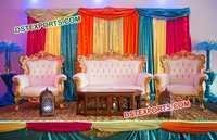 Beautiful Marriage Stage Sofa Set