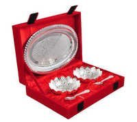 2 Bowl & Spoon With Tray in Wooden Box gift Gift Set,