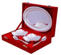 2 Bowl, Spoon & Tray with Wooden Gift Box