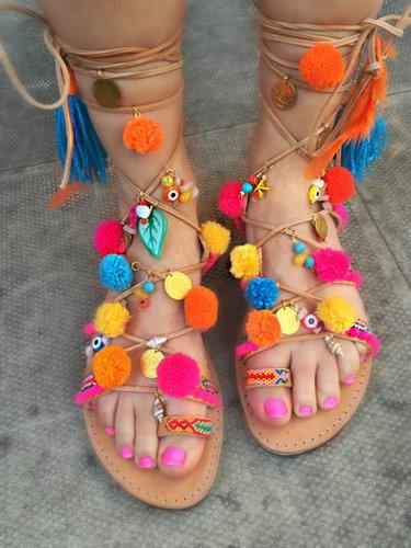 Embroiderd Ladies Sandals