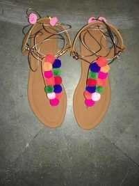 Embroidery Fancy Sandals