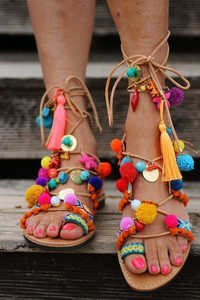 Ladies Embroidery Sandal