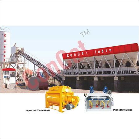 Fully Automatic Ready Mix Concrete Batching & Twin Shaft Mixing Plants
