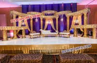 Beautiful Golden Wedding Stage