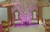 Beautiful Wedding Chairs for Dulha and Dulhan
