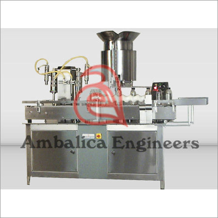 Bottle Filling And Stoppering Machine