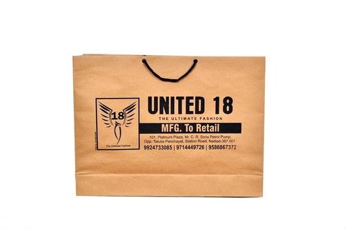 Brown Craft Printed Paper Bag