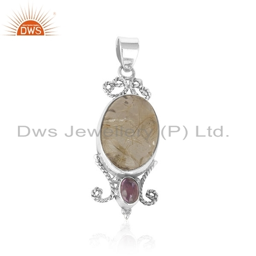 Gemstone 925 Sterling Silver Pendant
