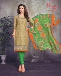 Cotton printed dress materials with chiffon dupatta balaji arabella vol-11