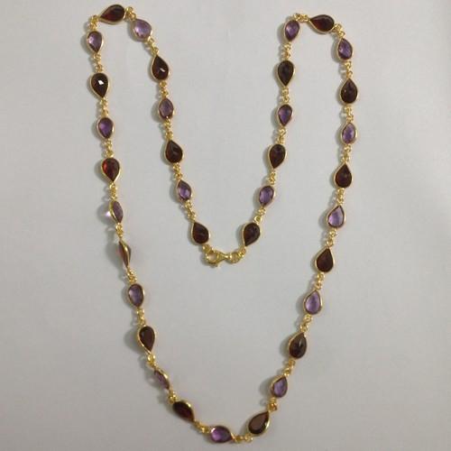 Multi Stone Pears Chain