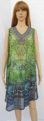 HAODUOYI Women Chiffon Dresses Female V-neck Sleeve Pleated High Waist Tie Long