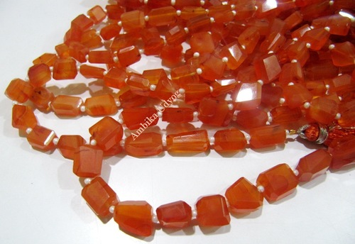 Carnelian Laser Cut Nugget Beads