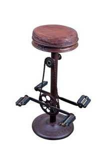 Round Top Pedal Base Industrial Chair