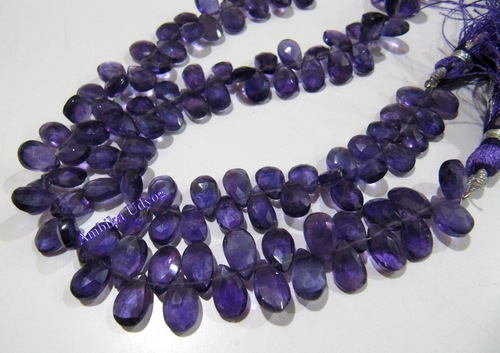 African Amethyst Pear Shape Beads