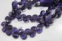 African Amethyst  Heart Shape Beads