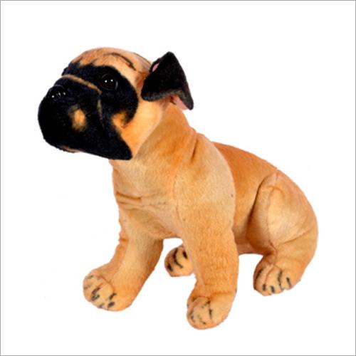 Brown Pug Dog Plush Toy