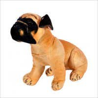 Brown Pug Dog Plush Toy